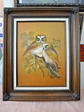 Oil Painting Owls Artistic Interiors Original Painting Signed