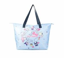 Sanrio Hello Kitty Blue Travel Folding Tote Bag with Pouch NIB