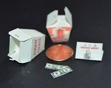 Miniature Chinese Food Delivery Menu, Boxes