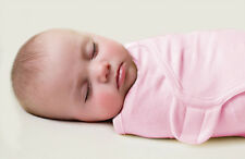 New Baby SwaddleMe Wrap Swaddle Blanket Small Cotton Pink