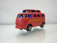 Diecast Edocar Volkswagen T1 Camper No. 25 1/60? Red Very Good Condition Rare