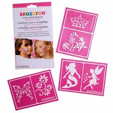 Snazaroo Face Paint Re-Use Stencils Girls 1198014