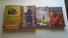 4 book lot salman rushdie fury satanic verses midnight's children the moor's las