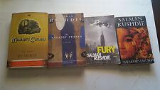 4 book lot salman rushdie fury satanic verses midnight's children the moor's las