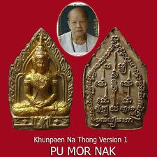 Khunpaen Na Thong Ver.1 Pu Mor Nak Thai Buddha Charms Love Sex Amulet Pendant