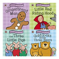 Ladybird Touch and Feel Fairy Tales Collection 4 Books Set Three Little Pigs NEW
