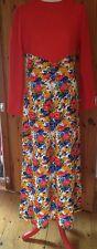 Vintage Floral Shift Dress/Summer Dress/Size S-M/Multi Coloured/1960's/70's/Maxi