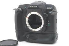 MINT PENTAX MZ-S Black 35mm SLR Film Camera BG-10 Battery Grip Strap From JAPAN
