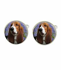 Basset Hound Dog Mens Cufflinks Ideal Wedding Birthday Fathers Day Gift C374