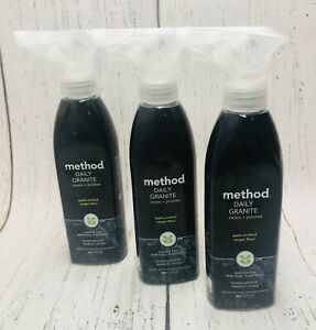 (3) Method Daily Granite Cleans & Polishes Apple Orchard Spray 12 oz
