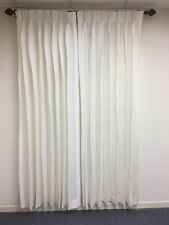 "CUSTOM FRENCH PLEATED LINEN PANELS  30""W x 87""L DOUBLE Fullness UNLINED CREAM"