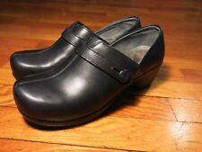 Dansko EU 41 Professionals Summer Clogs Black Leather US 10 10.5