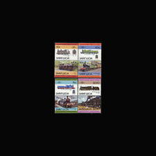 St Lucia, Sc #774-77, MNH, 1985, Trains, Locomotives, Cpl Set, 231*F