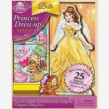 Bendon Disney Princess Belle 25-Piece Wooden Magnetic Doll Dress-Up Kit...