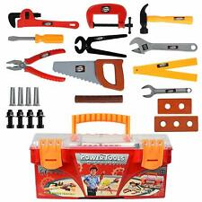 26-Piece Tool Box Set with Removable Tool Tray - Great Gift Toy for Boys