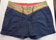 Columbia Women's Cotton Shorts Hiking Casual Multi Color Drawstring Size 10