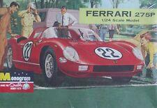 Vintage 1/24 Monogram Ferrari 275P Le Mans & Sebring Winner Sealed Kit