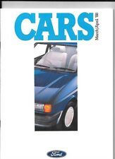 FORD FIESTA,ESCORT,SIERRA,SCORPIO,ORION,GRANADA MAR/APR..1988 ALL MODEL BROCHURE