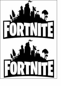 FORTNITE LOGO TOPPERS (PRECUT)  EDIBLE ICING/WAFER CARD TOPPER