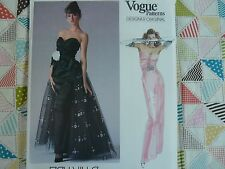 Vogue 1853 Designer  Bellville Sassoon formal maxi dress Sewing Pattern size 8