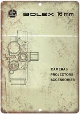 """Bolex 16 Film Camera 10"""" x 7"""" reproduction metal sign"""