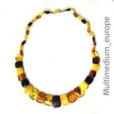 Art Deco Stil Bernstein Hals Kette poliert  Amber necklace  butterscotch
