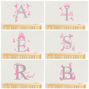 Personalised Name Wall Art Sticker - Baby Girls Nursery Decal
