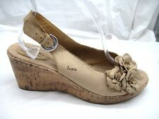 BOC Born Concept size 10M brown slingbacks womens sandals shoes C85802
