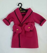 1996 Pleasant Co AMERICAN GIRL of Today PINK FLEECE ROBE & SLIPPERS NEW