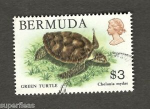 1978 Bermuda SC #378 GREEN TURTLE Chelonia Mydas Θ used stamp