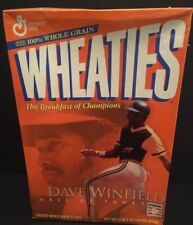 2001 General Mills WHEATIES Cereal Box Dave Winfield & Kirby Pucket Hall Of Fame
