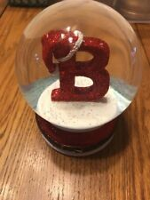 Christmas Ornament Letter B Waterglobe Ships N 24h