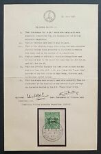 s2177) Neuseeland Victorialand Nr 1 mit Zertifikat - British Antarctic Expd 1913