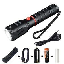Zoomable LED Flashlight 3 Modes CREE XML T6 Torch Light with 18650 Battery