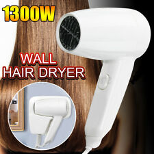 1400W Electric Hair Dryer Hang Up Wall Mounted Hairdryer Home Hotel Motel Salon