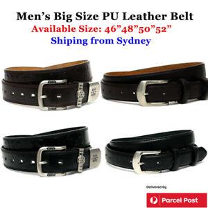 """Extra Large Men's Belt PU Leather Quality 46""""-52"""" Big Size -Sydney Stock"""