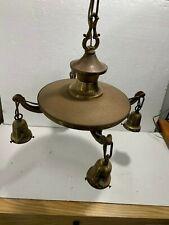 Antique 1920's Chain & Pan Light Fixture
