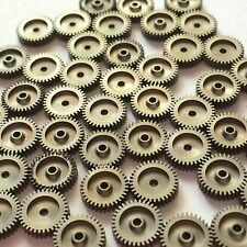 25 Watch Parts Silver Gray Steampunk Gears Vintage Altered Art Wheels Old Repair