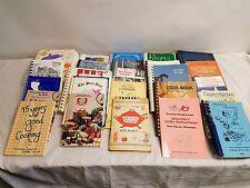 Lot of 25 Variety Fundraiser Church Community Regional Recipe Cookbook Books