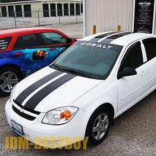 "2005-2010 Chevy Cobalt 8"" Rally Racing Stripes Decal Sticker Vinyl Wrap Hood"