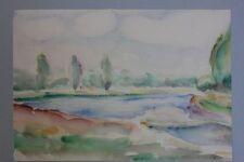 Landschaft mit See, Aquarell, 1920er Jahre - Nachlass Anton Kist