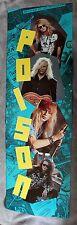 POISON 1990 Bret Michaels Rockett Dall DeVille Music RARE 6 Foot Door Poster EX