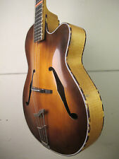 ♫ ORIGINAL Helmut Hanika / HOPF Archtop,massive Decke.Vintage Jazzgitarre