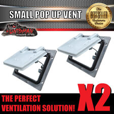 X2 Small White pop up ROOF AIR VENT. Trailer Canopy Camper Caravan Horsefloat