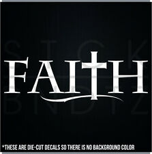 FAITH CHRIST JESUS USA CUTE FUNNY DECAL STICKER MACBOOK CAR WINDOW MOTORCYCLE