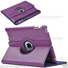 Funda de cuero rotación 360º para Apple iPad 4 3 2, iPad Mini 4 3 2 iPad Air 2