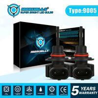 LED Headlight High Beam 9145 9005 H10 HB3 Bulbs Kit 330000LM Super Bright 6500K