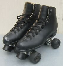 Black SURE-GRIP ROLLER SKATES Mens sz 11 Super X 8L Plates Aerobic Wheels