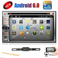 Android 6.0 OS Double 2 Din Car DVD Player With GPS Navi BT Wifi Stereo + Camera