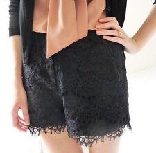 The Kooples Femme Noir Dentelle Shorts-Taille 38 Neuf avec étiquette très  chic 8bd73a49602